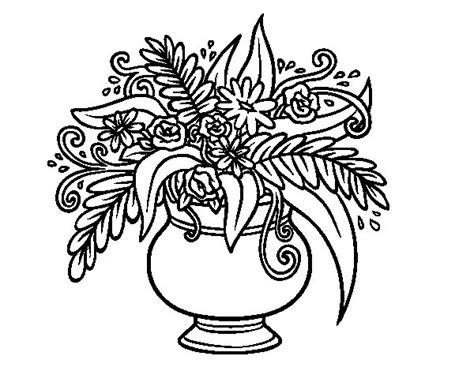 vaso di fiori disegno disegno di un vaso con fiori da colorare acolore