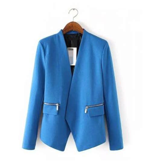Jaket Jas Jas Blazer Casual Biru blazer wanita warna biru model casual model terbaru