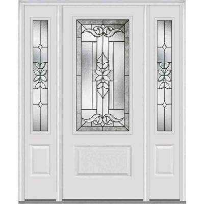 single door with sidelites fiberglass doors front