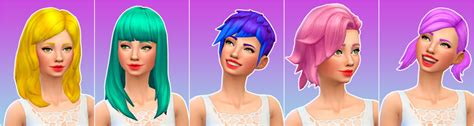 my sims 4 blog base game book recolors by inabadromance my sims 4 blog all 44 base game female hair recolors by