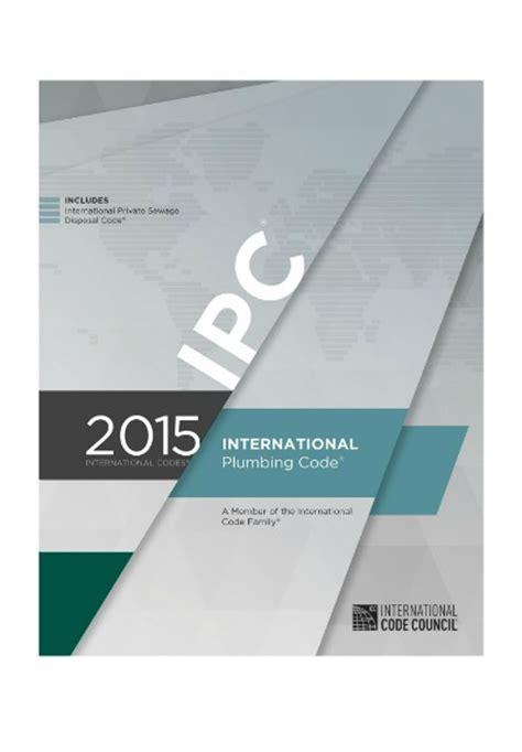 International Plumbing Code Book by International Plumbing Code 2015 Builders Book Depot