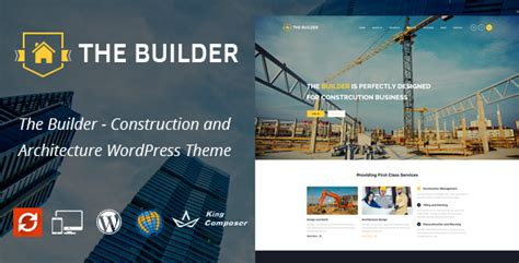 wordpress themes builder free the builder responsive wordpress theme for construction