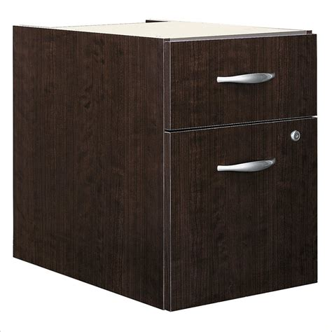 Bush Bbf Series C 2 Drawer 3 4 Pedestal In Mocha Cherry Cherry Wood File Cabinets