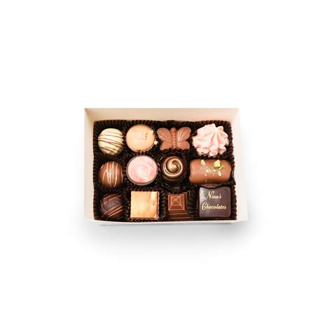 Handmade Chocolate Gifts - twelve assorted chocolate gift box s handmade