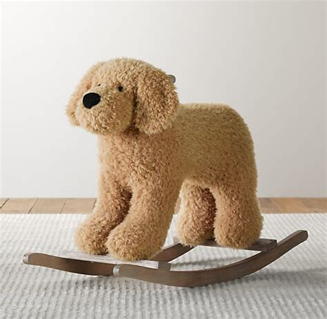 shaggy plush animal rocker dog