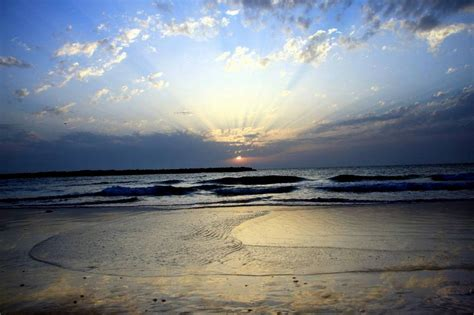 blue sunset  beach background image wallpaper