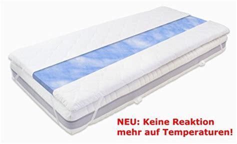 gel matratzen gel gelschaum matratzen topper blue sensation h 246 he 6 cm
