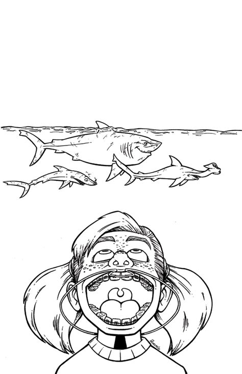finding nemo coloring pages darla finding nemo darla and sharks by animalqwacker on deviantart