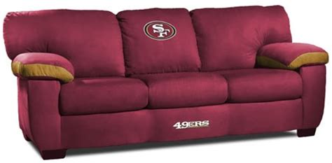49ers couch san francisco 49ers sofa nice forty niners couch to