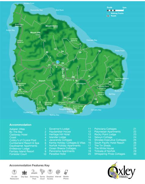 norfolk island map where is norfolk island norfolk island norfolk