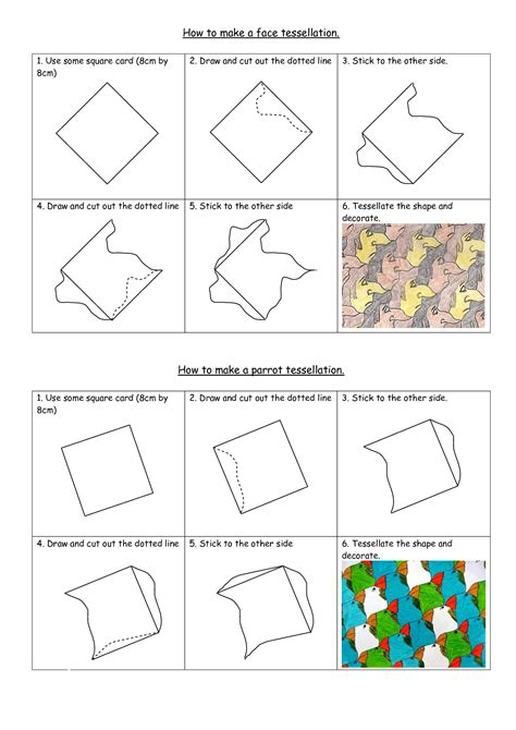 how to make a tessellation template with an index card how to create a tessellation pattern projects search and