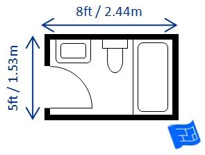 what is the standard bathroom size bathroom dimensions