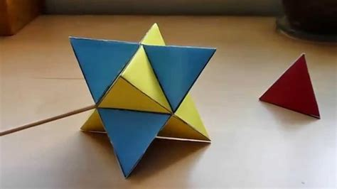 How To Make A Paper Net - tetrahedron