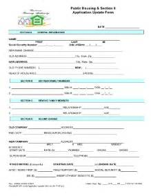 application form sections fill printable