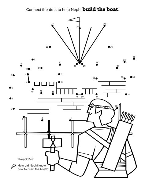 lds coloring pages nephi builds a ship nephi builds a boat