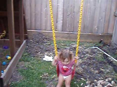 fat girl falls off swing faye falls of the swing youtube