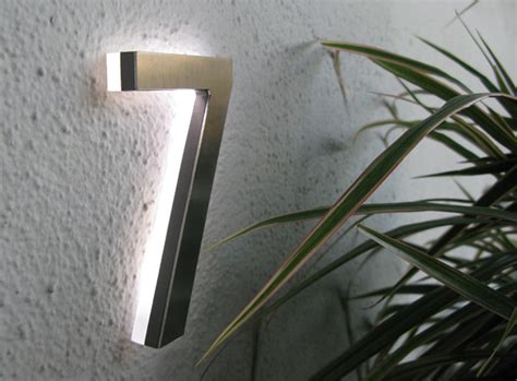 appartment number led house numbers apartment led numbers modern by