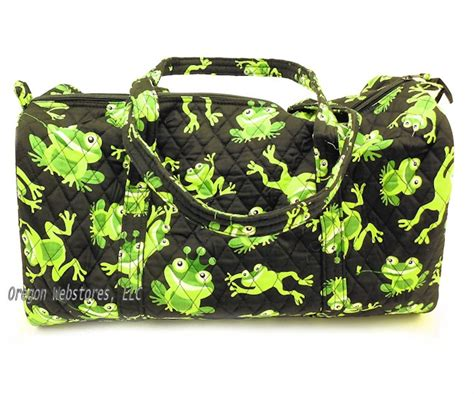 quilted frog duffle bag quilting