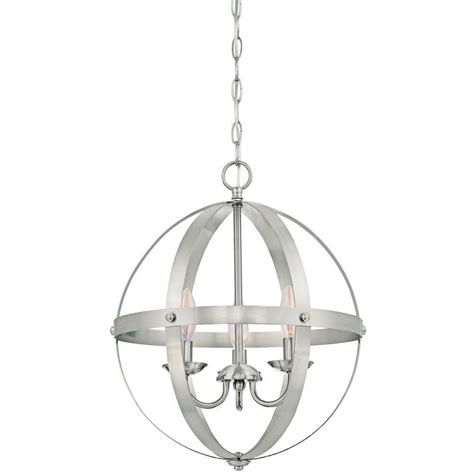 brushed nickel outdoor pendant light westinghouse stella mira 3 light brushed nickel pendant