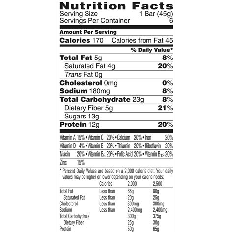 k protein bars special k protein snack bars nutrition facts nutrition