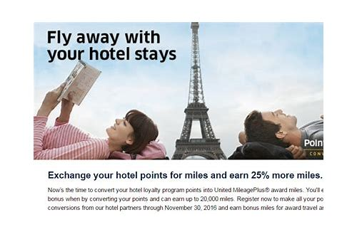 united airlines mileage plus hotel deals