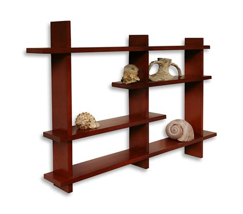 wall shelf decorative wall shelf shell shelf brown scientario