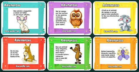 Imagenes Educativas Adivinanzas   adivinanzas animales para ni 241 os portada imagenes educativas