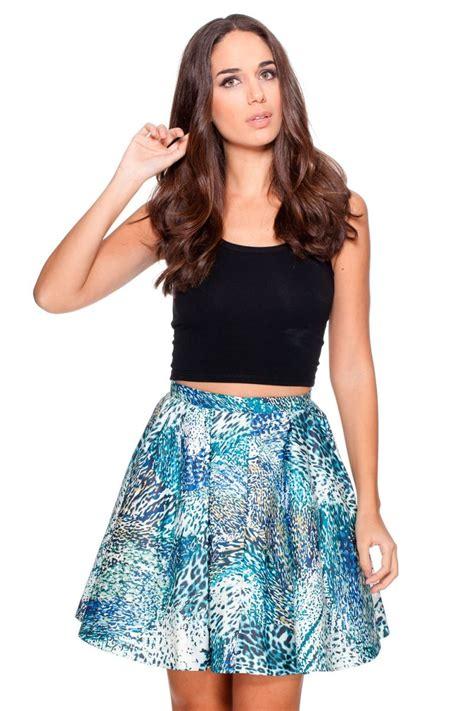 faldas cortas con vuelo falda con vuelo estada en tonos azules y blancos y tul de