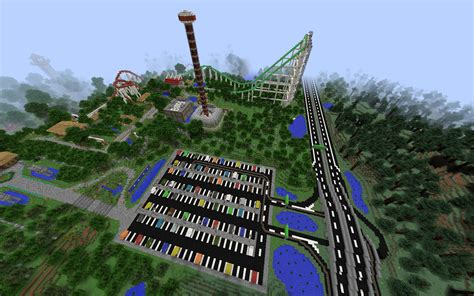 theme park names minecraft bossianus land giant amusement park creation