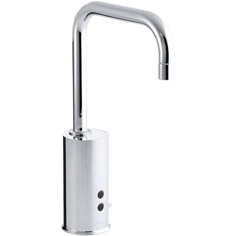 kohler single hole bathroom faucet shop kohler polished chrome touchless single hole bathroom faucet at lowes com