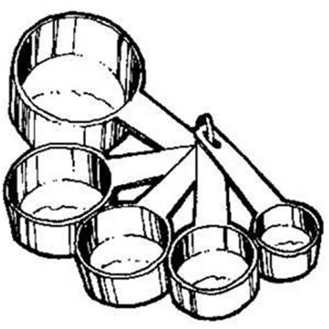 measuring cup clipart measuring cups and spoons clipart collection