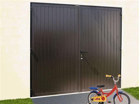 porte de garage en alu porte de garage battante en aluminium 2 vantaux