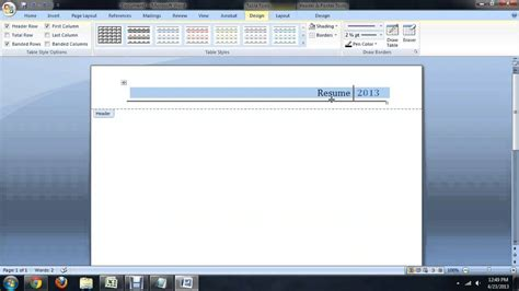 header design microsoft word how to get rid of the header footer line in microsoft