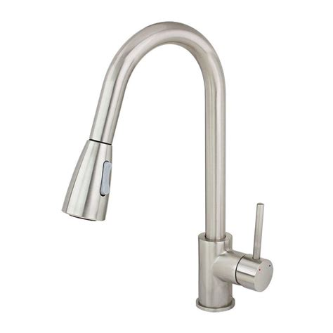 usa made kitchen faucets shop kokols usa brushed nickel 1 handle deck mount pull down kitchen faucet at lowes com