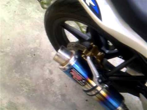 Knalpot All New Cb150r Slip On Yoshimura R 11 Biru racing exhaust honda cb150r doovi
