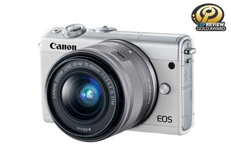 Canon Eos M100 Kit 15 45mm Is Stm Putih White eos m100 ef m 15 45mm is stm kit