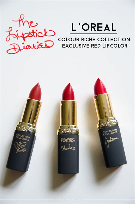 L Oreal Collection Reds the lipstick diaries l oreal colour riche collection exclusive lipcolor ashbam