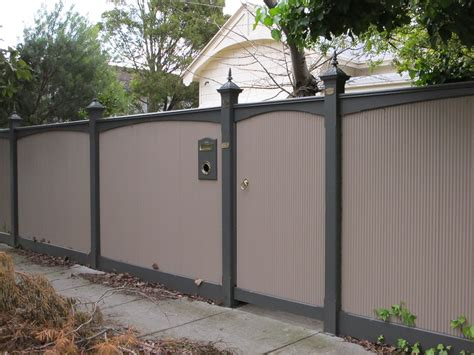 image of corrugated metal fence garden design fences pinterest fences metal fences and