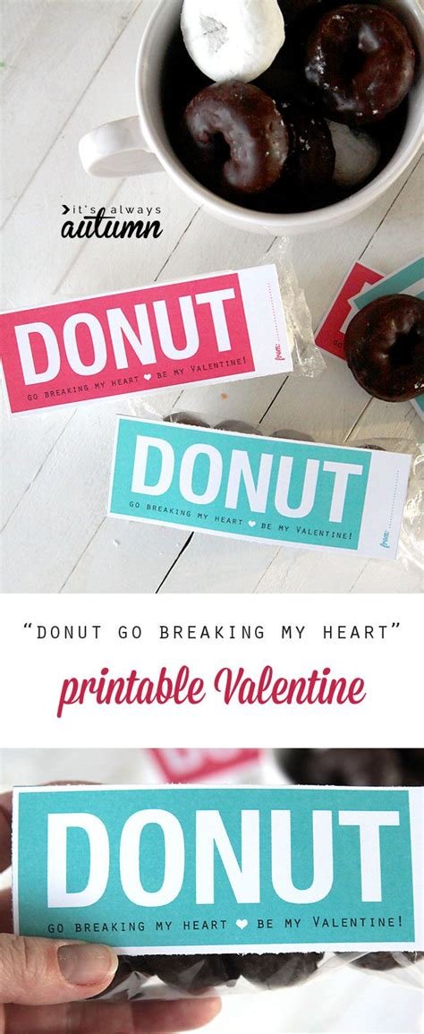 Duck Donuts Gift Card - donuts valentine s day card free printable valentine day cards valentines and the