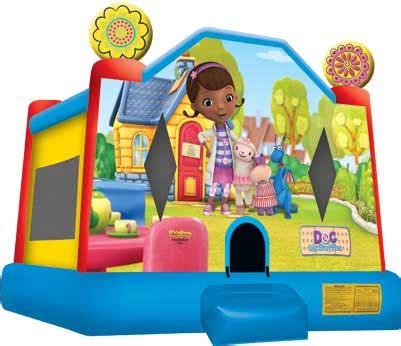 doc mcstuffins house bounce houses bounce castles rentals blue balloon parties