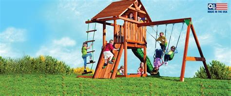 kids creations swing set high quality redwood cedar swing sets by kid s creations