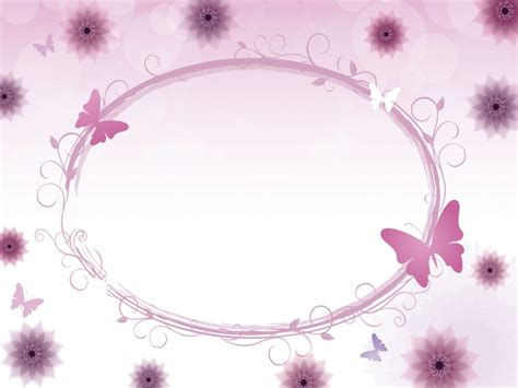 ppt templates free download butterfly floral circle with butterflies powerpoint templates