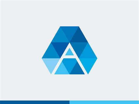 letter a logo template by alex broekhuizen dribbble