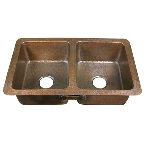 Drop In Copper Kitchen Sinks Shop Barclay 16 Basin Drop In Copper Kitchen Sink At Lowes