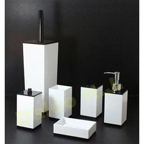 taiwan acrylic black white bathroom accessories set