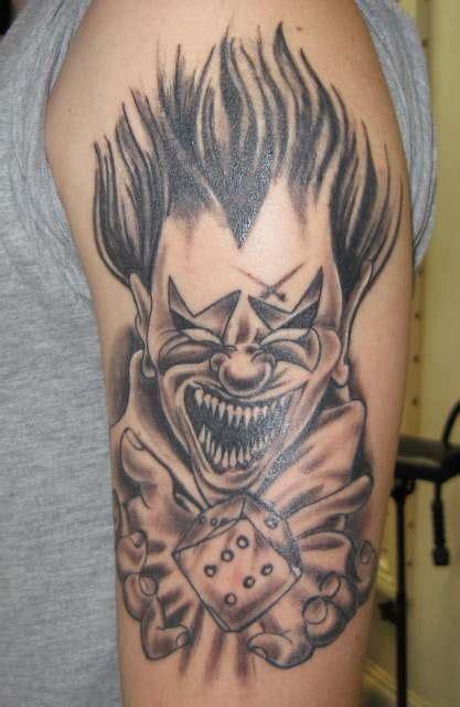 evil clown tattoos evil clown gift