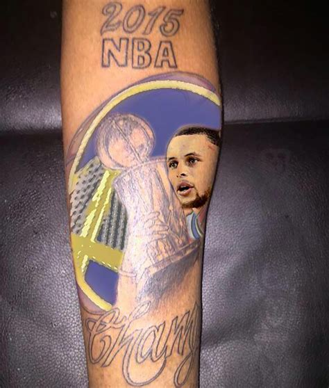 steph curry tattoos stupid warriors fan gets stupid because fans are