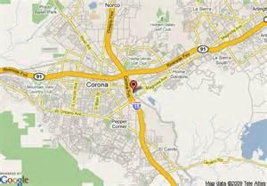 map of corona california map of residence inn by marriott corona riverside corona