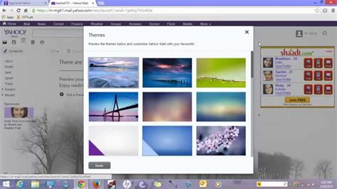 themes yahoo mail how to apply theme in yahoo mail apply wallpaper in