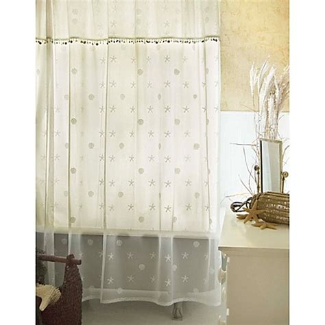 white lace shower curtain with valance buy heritage lace sand shell shower window curtain panel